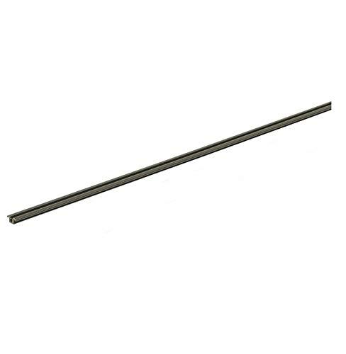 Gedotec – Riel para puerta de armario corredera para puerta de cristal – Slide Line 55 | plástico marrón | 2000 mm | 1 pieza – Guía para herrajes de puerta corredera