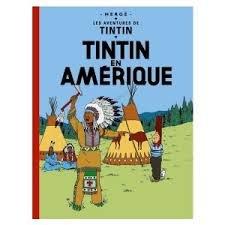 Tintin en Amérique - Les Aventures de Tintin. Quatrième plat B36 / Dos imprimé - 1966.