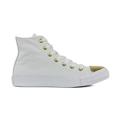 Converse Chuck Taylor All Star High Classic CTAS Hi Unisex Canvas Sneaker mit 7kmh Aufkleber Gold 3236 37