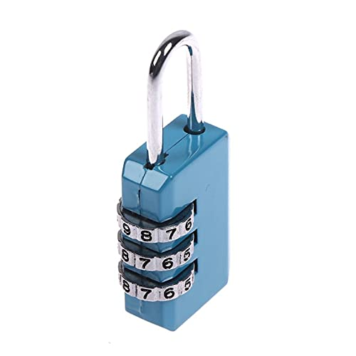 Lucchetto a combinazione di codice a 3 cifre per lucchetto con combinazione di bagagli lucchetto per borsa con cerniera valigia cassetto serrature durevoli