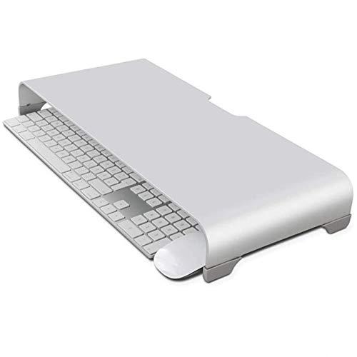 Cutfouwe Escritorio de Metal Universal de la Base del Soporte de hasta 27 Pulgadas, Soporte para Monitor Pantallas de Aluminio Riser Ordenador para PC portátil Macbook iMac Mac,19.5X8.66X2.55 in