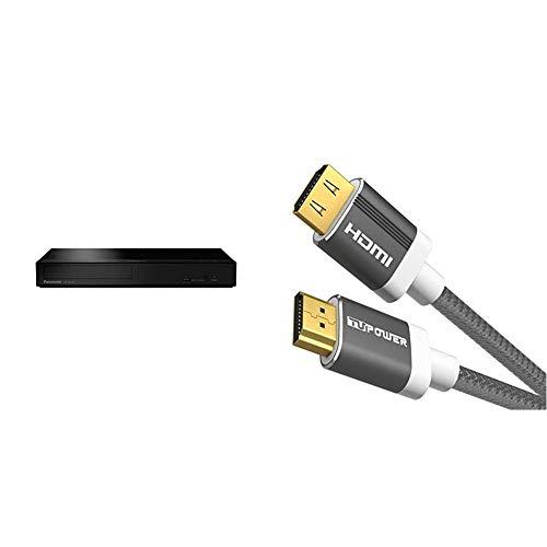 Panasonic DP-UB154EG-K Ultra HD Blu-ray Player in schwarz & TUPower K41 Premium High Speed HDMI Kabel 2.0b 1,5 m 4K HDR ARC-fähig: zukunftssicheres TV-Kabel unterstützt 2160p Video bei 60Hz 18Gbit/s