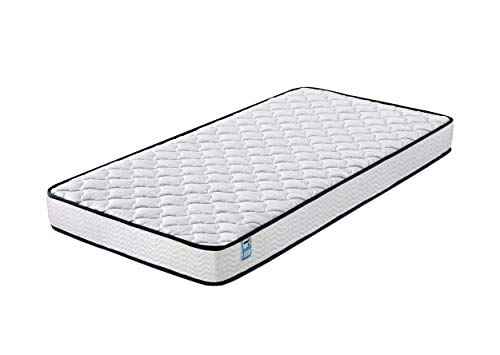 Home Treats Luxury Quilted Pocket Sprung Mattress White. Deluxe Spring Mattress For Comfort (Single)