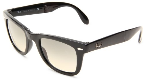 Ray-Ban RB4105 Wayfarer Gafas de sol plegables, no polarizadas, 50 mm negro Black (601S) 54 mm