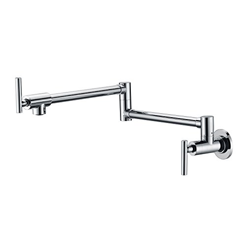 Sumerain Pot Filler Faucets,Wall Mounted Stove Pot Filler in Chrome Finish