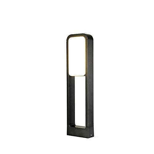 KMYX 20W LED pilier lumière extérieure étanche IP55 Villa Porte Post Light Maison Aisle jardin Lampe de table éclairage en aluminium moulé sous pression carrée Cadre