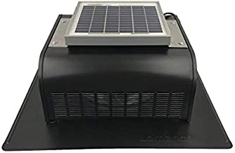 Solar Roof Vent - Solar Attic Fan - Solar SlantBlaster Black - Slantback Vent