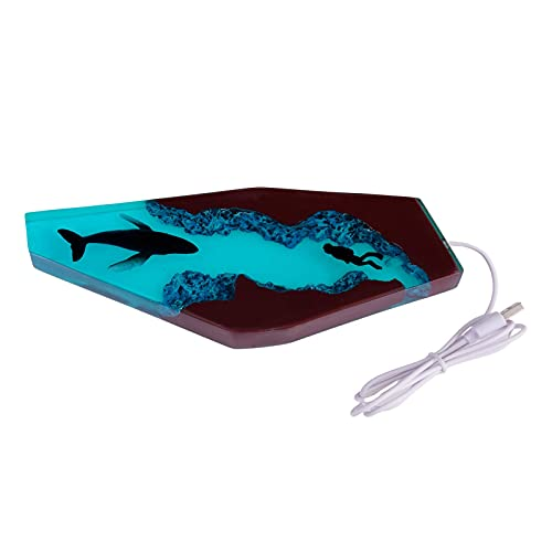 SWNY Linda ballena niños luz de noche, USB recargable lámpara portátil, decoración de dormitorio para bebé niño pequeño, adolescentes, niñas niños niños decoración