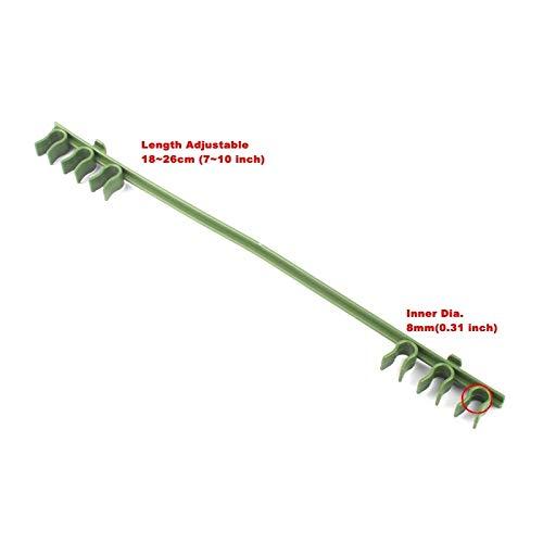 Bureze Lot de 4 connecteurs en Plastique pour Plante grimpante et auvent - Installation Facile - 7 Types au Choix