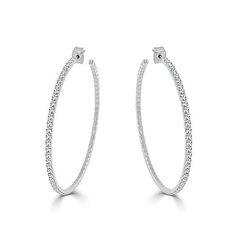 Sabrina Designs Lightweight Crystal Hoop Earring, LARGE -2.25
