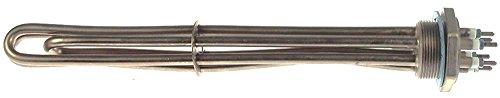 Radiador 4000 W, 230 V, longitud 335 mm, ancho 33 mm, 3 circuitos de calefacción, altura 35 mm, conector M4 M45x2