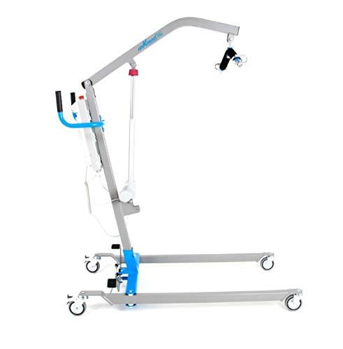 Grúa eléctrica para elevación y traslado de pacientes y mayores hasta 180 kilos, con arnés incluido | Grúa hospitalaria ✅