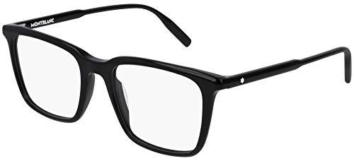 Montblanc Occhiale da Vista MB0011O 001 nero montatura plastica taglia 52 mm occhiale uomo