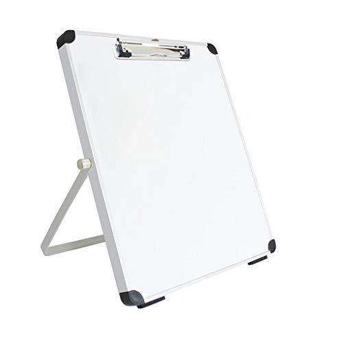 RDMSLKQ Desktop-Ständer-Typ Whiteboard, Faltbare Tafel, an der Wand montierte tragbare Magnetschreibtafel, Mini-Zeichenbrett, geeignet for Büro, zu Hause, Lehre, Ausbildung (Color : Silver1)