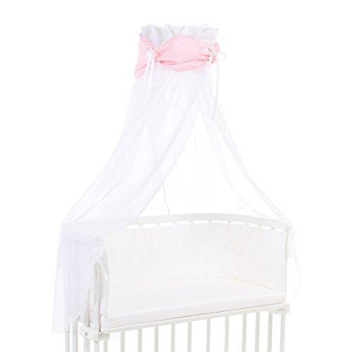 Babybay ciel Organic Cotton avec nœud papillon pour tous les modèles, marron clair étoiles Blanc