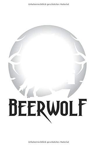 Diabetes Tagebuch: Bier Werwolf Vollmond Halloween Party Geschenk Typ 1 & Typ 2, 120 Seiten, 59 Wochen, 6X9 (Ca. A5), Blutzuckertagebuch, Hypertonietagebuch