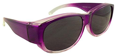 Womens Ombre Fit Over Sunglasses by Ideal Eyewear - Wear Over Prescription Glasses - Over Eyeglasses - Polarized Lenses - Light and Comfortable - Case...