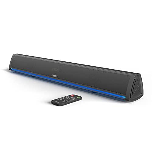 Barra de Sonido TV con Bluetooth, Soundbar para Television, Videojuegos, Música, Barras de Sonido Altavoces para TV Home Cinema, Oficina y PC con Mando a Distancia