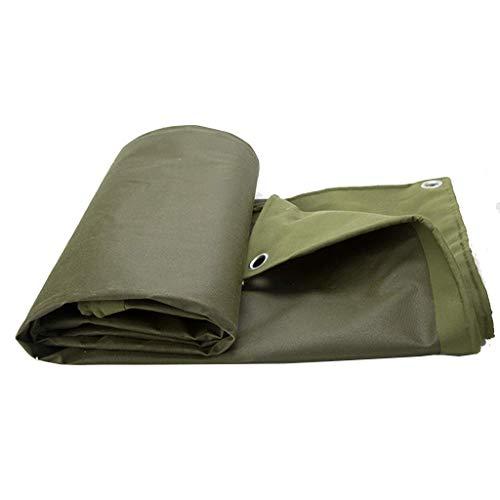 QIURUIXIANG - Espesor de la hoja pesada 6.6ft x6.6ft (2 x 2 m) lona verde impermeable lona calidad placa con una lona al aire libre camping QI-224
