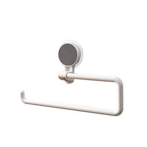 Küchenregale frei von Löchern, keine Spuren, Badetücher, Papierhandtuchrollen, Plastikfolie, Aufbewahrungsregale fürs Badezimmer (Farbe: Weiß).