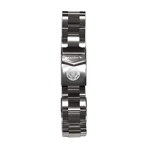 Marathon Bracelet 316L Stainless Steel, Genuine Military Grade - Made in Switzerland - WW005005US (20mm, US Great Seal)