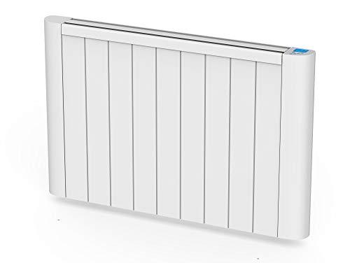 Emisor termico de inercia digital con placa ceramica,pantalla LCD, programador semanal y control WIFI serie CERAMIC S de PURLINE (1500 W)