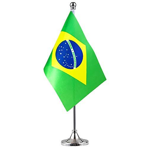GentleGirl Brazil Flag Brazilian Flag Table Flag,Desk Flag,Office Flag,International World Country Flags Banners,Festival Events Celebration,Office Decoration,Desk,Home Decoration