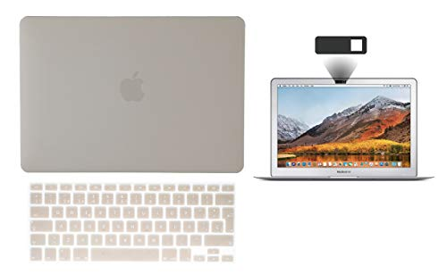 TECHNA Protector Carcasa Case para Macbook + Protector Skin Cover de Teclado en ESPAÑOL + Webcam Cover AntiSpy Macbook Air 13'' Model: A1369 / A1466 Verde Degradado