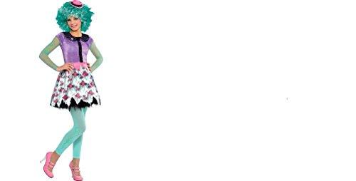 Monster High Honey Swamp Costume Dress Belt Tights Wig Large 12-14