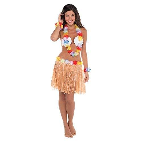 amscan Costume hawaïen pour adulte - 5 pièces - Multicolore - 45,72 x 18,54 x 5,08 cm