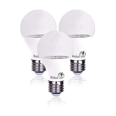 Bioluz LED Full Spectrum Grow Light Bulbs for Indoor Plants A19 LED 3 Pack