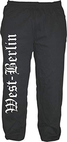 HB_Druck West-Berlin Jogginghose - Altdeutsch - Sweatpants - Jogger - Hose Schwarz XL