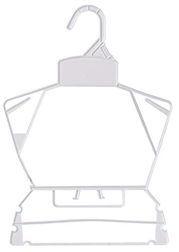 Economy White Childrens Plastic Clothing Hanger Set - Case of 250