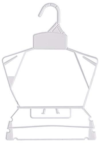 Economy White Children's Plastic Clothing Hanger Set - Case of 250