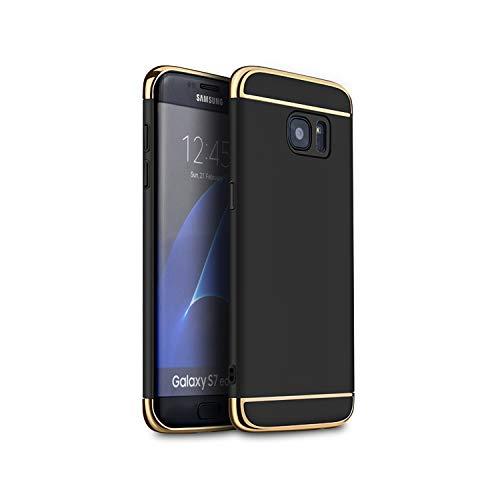 MIERES Funda Compatible con Samsung Galaxy S7 Funda Delgada Resistente a Golpes y Rayado Funda para Samsung Galaxy S7 Negro
