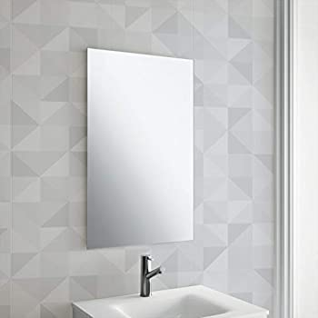 Buy Venetian Design Rectangular Frameless Decorative 4mm Double Coated Float Glass Mirror Silver 24 X 18 Inches Online At Low Prices In India Amazon In