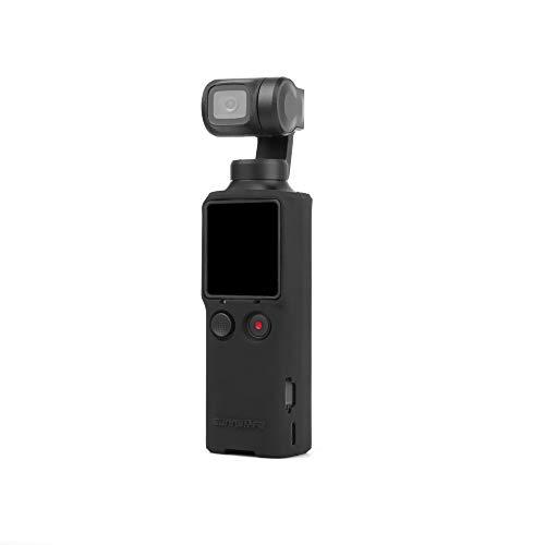 CUEYU Schutzhülle für XIAOMI FIMI Palm Gimbal Kamera,Silikon Action Camera Case Schutzhülle für XIAOMI FIMI Palm Gimbal Kamera (Schwarz)