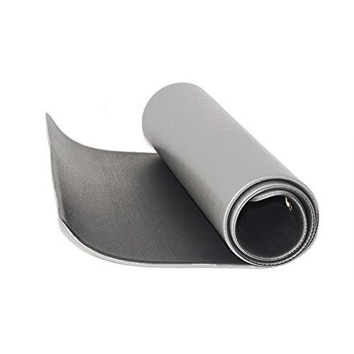 Joycaling Esterilla de yoga de PVC con ojal de metal, 173 x 60 cm, alfombrilla antideslizante de doble cara, grosor de 8 mm (color: gris, tamaño: 173 x 60 cm)