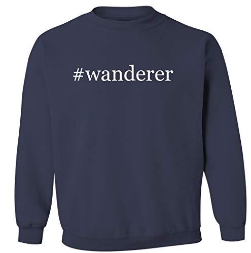 #wanderer – Sudadera con cuello redondo para hombre, color azul marino, talla XXL