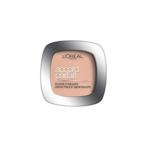 L'Oréal Paris - Poudre Fondante Accord Parfait - Peaux Normales à Mixtes - Teinte : Ivoire Rosé (1.R) - 9 g