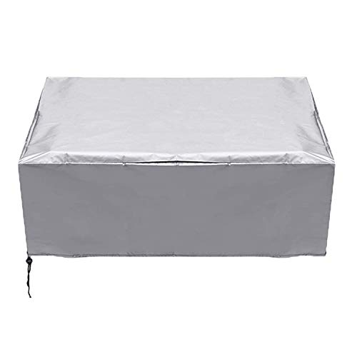 Garden Furniture Covers, Patio Furniture Cover Waterproof Patio Table Covers Oxford Fabric Furniture Cover Windproof Anti-UV for Patio Outdoor ( Color : Silver , Size : 250x250x90cm(98x98x35in) )