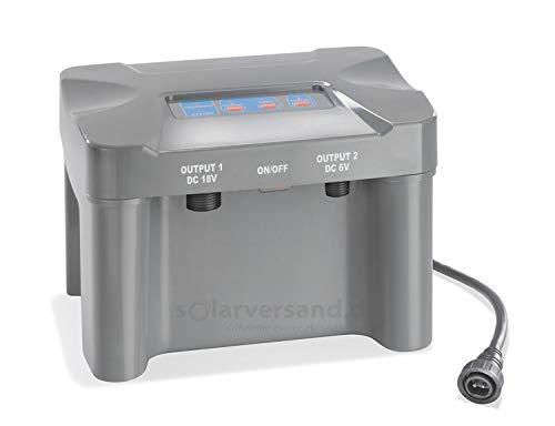 Akkubox 12V/12 Ah bis 50 Watt Solarmodulleistung für Solar Teichpumpen Pumpe Akku Batterie esotec 101812