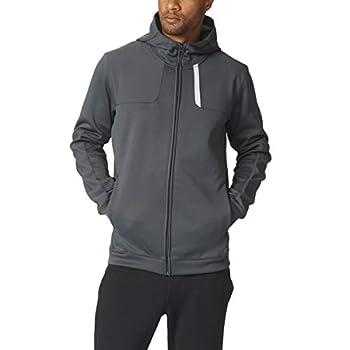 Adidas Dual Threat Mens Full Zip Basketball Hoody XL Dark Grey Heather