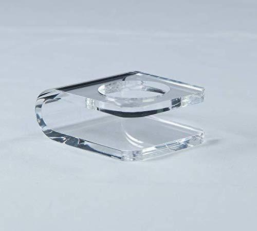 CAYB Mini Design Ballhalter aus hochwertigem Acrylglas für Baseball, Golf, Tennis | Ständer Fixierung Presenter Halterung Podest Sockel (durchsichtiger Kunststoff Sport Geschenk)