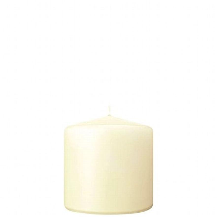 に対応する赤外線状カメヤマキャンドル( kameyama candle ) 3×3ベルトップピラーキャンドル 「 アイボリー 」