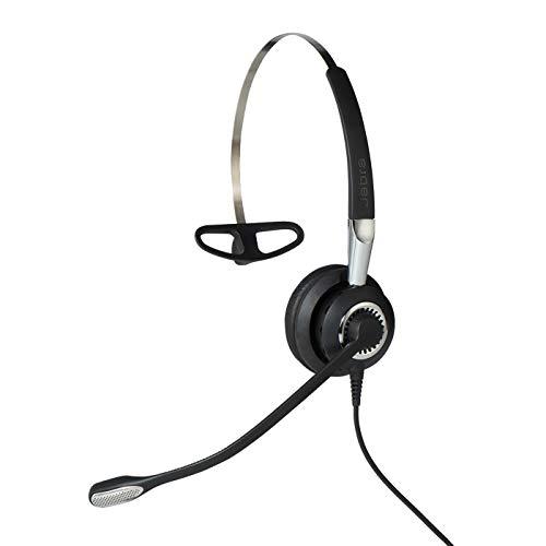 Jabra Biz 2400 II Mono USB leichtes Call-Center-Kabel-Headset für UC/Softphones/USB-Tischtelefone, Controller mit programmierbaren Tasten, NC