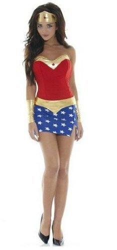Sexy Superhero Damen-Kostüm Wonder Girl Gr. 36/38 Woman