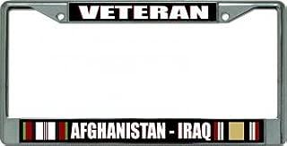 Afghanistan Iraq Veteran Chrome License Plate Frame