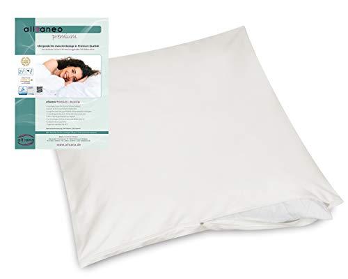 allsaneo Premium Encasing Kissenbezug 80x80 cm, Allergiker Bettwäsche extra weich und leicht, Anti-Milben Zwischenbezug für Kissen