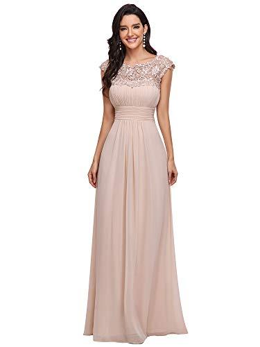 Ever-Pretty Vestiti da CocktailDonna Linea ad A Elegante Stile Impero Chiffon Abiti da Damigella d'Onore Arrossire 44